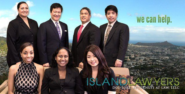 Photo of the attorneys and staff of Doi/Luke, Islandlawyers - experienced and compassionate divorce lawyers and family law attorneys in Honolulu, Hawaii