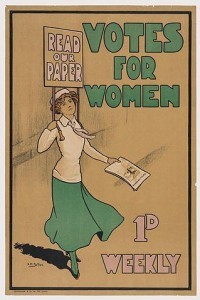 "Poster of ""Votes for Women,"" commemorating Women's Equality Day"
