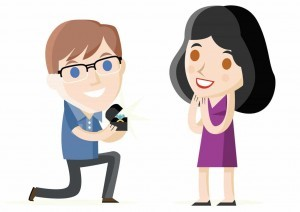 Illustration, marriage proposal